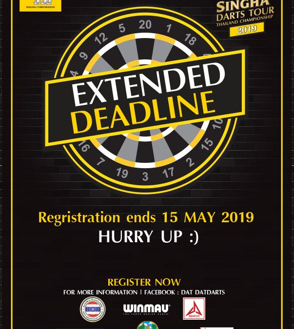 Extended Deadline for Singha Darts Tour 2019