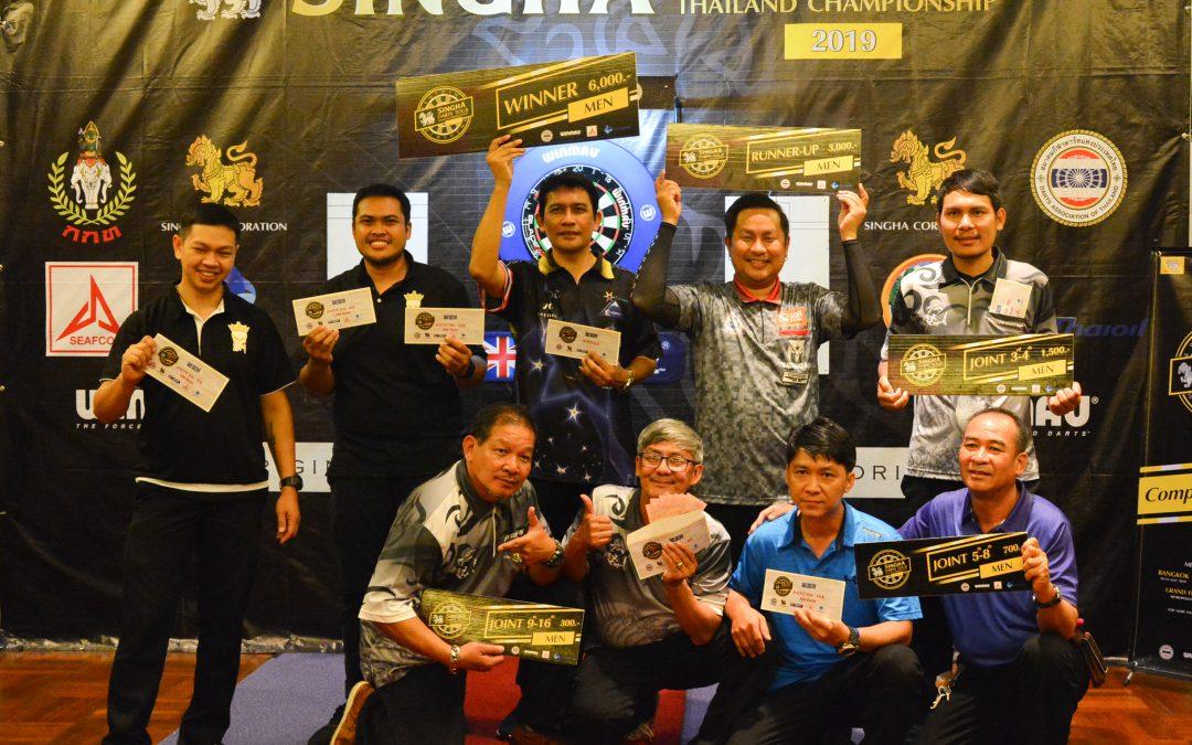 ผลการแข่งขัน Singha Darts Tour 2019  สนามที่ 3 Tour 6 ไทยออยล์  21 กรกฎาคม 2562
