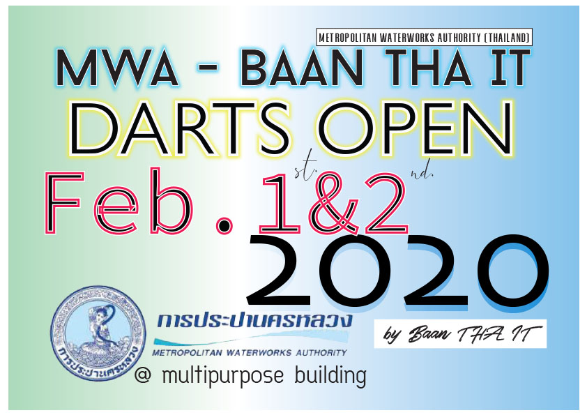 MWA – Baan Tha-It Darts Open 2020 Feb.1-2