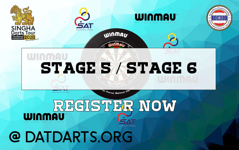 การแข่งขัน Singha Darts Tour 2020 สนามที่ 5 และ สนามที่ 6 เปิดรับสมัครแล้ว